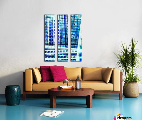 Glass and Concrete Towers_130515_14_183 HXSCYV Split Canvas print