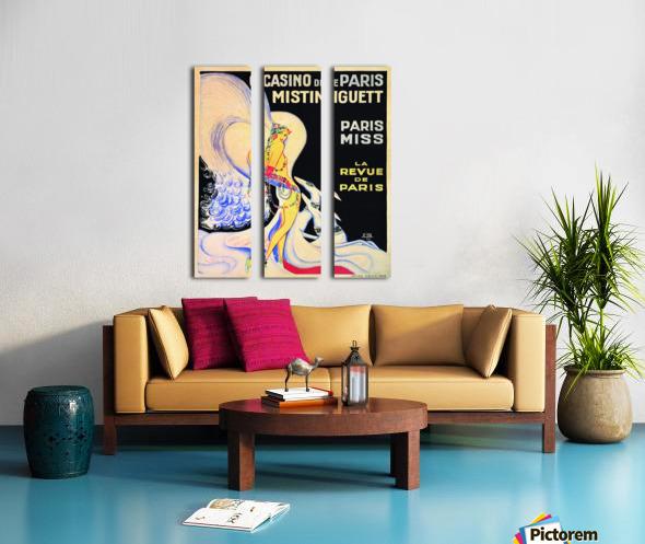 Casino De Paris Mistenguett vintage poster Split Canvas print