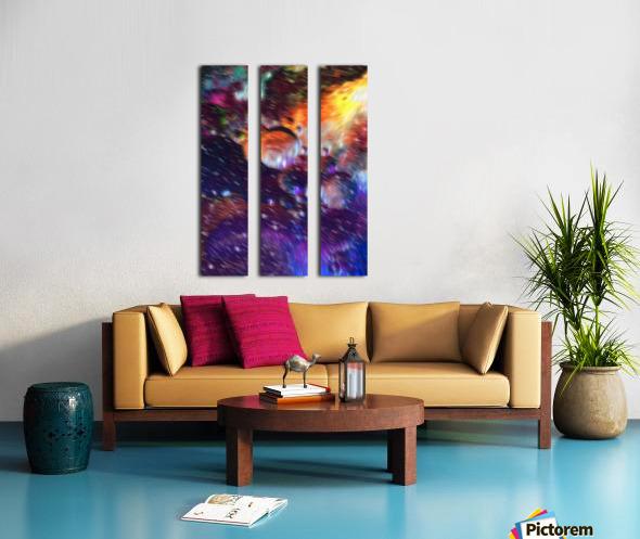 Color Flow F Split Canvas print