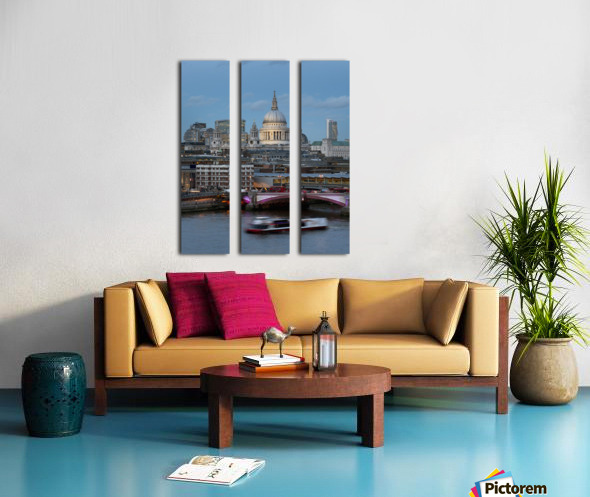 St. Paul's Cathedral and Blackfriars; London, England Split Canvas print