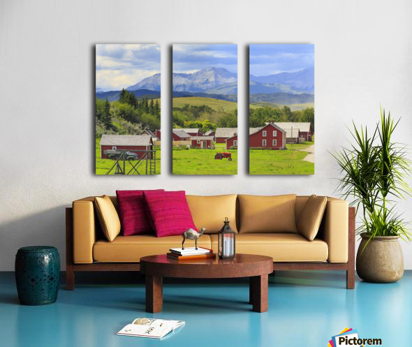 Bar U Ranch National Historic Site; Longview, Alberta, Canada Split Canvas print
