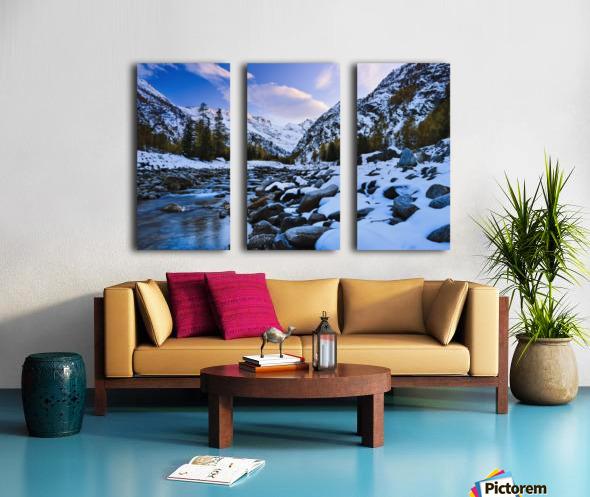 Valnontey torrent, Gran Paradiso National Park; Italy Split Canvas print