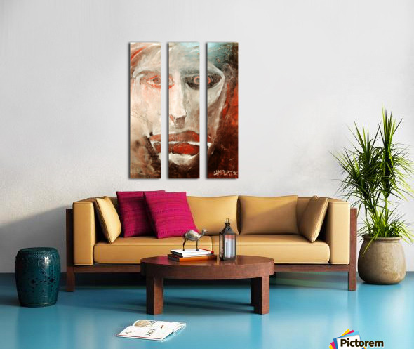 Face Split Canvas print