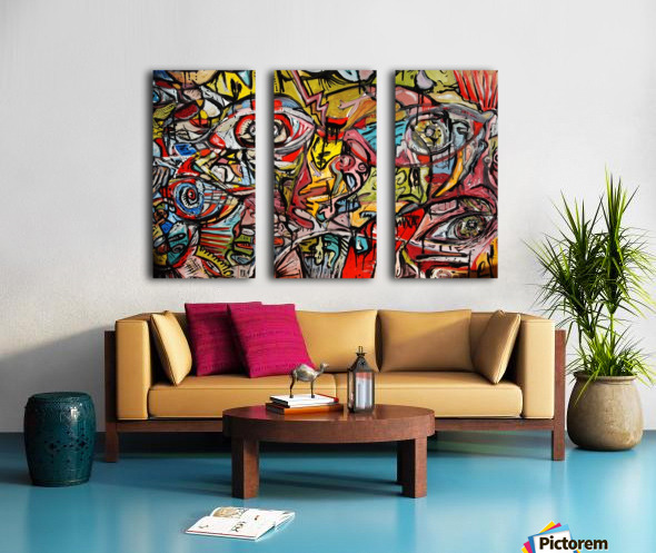Crash Split Canvas print