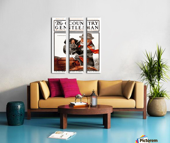 Cover of Country Gentleman agricultural magazine from the early 20th century. . Split Canvas print