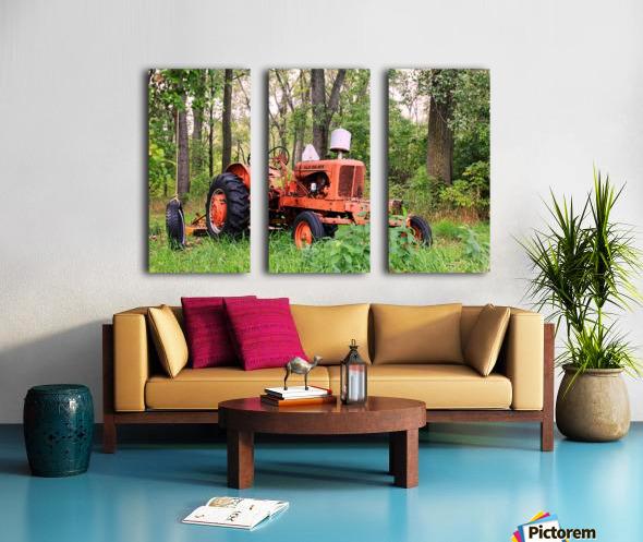 Vintage Tractor Split Canvas print