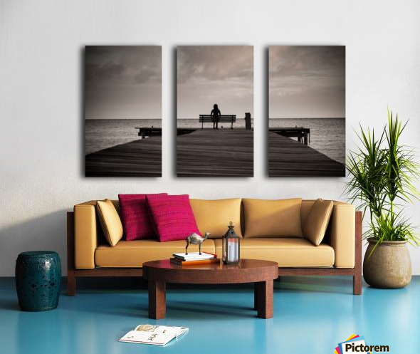 Sitting Split Canvas print