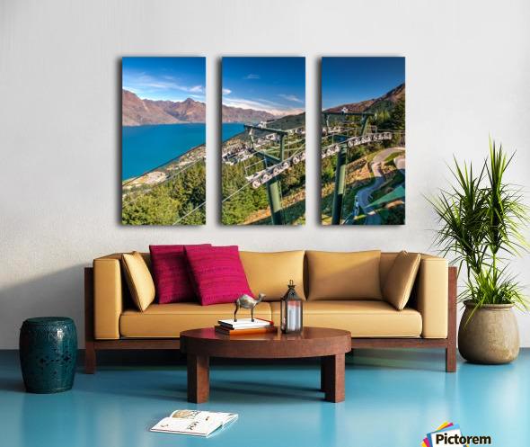 Towering over Lake Wakatipu Split Canvas print