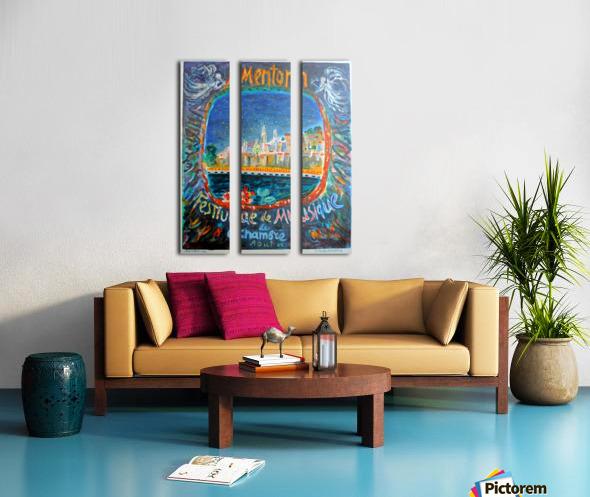 Menton Festival de Musique original advertising poster Split Canvas print