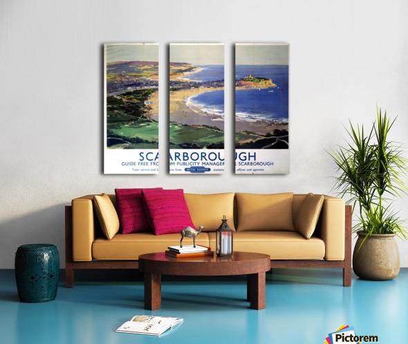 Scarborough British Railways poster Split Canvas print