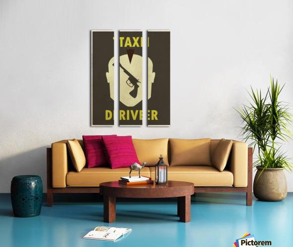 Taxi Driver Vintage Movie Poster Split Canvas print