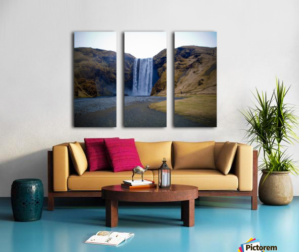 Iceland waterfall Split Canvas print