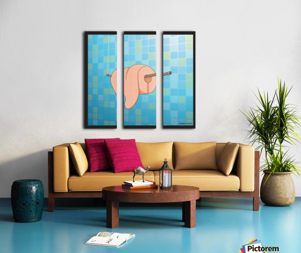 Tongue Split Canvas print