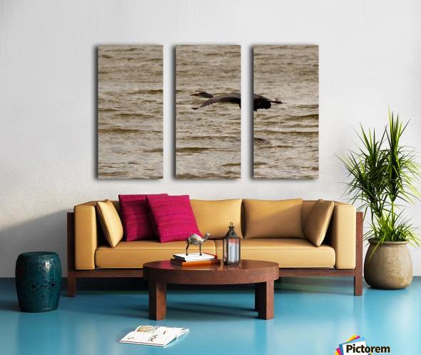 Heron flight Split Canvas print