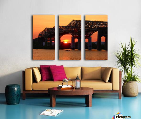 Champlain Bridge sunset Split Canvas print
