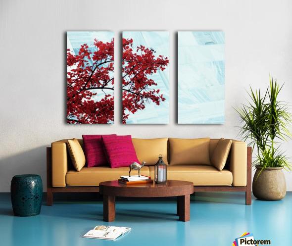 Red flowers Split Canvas print