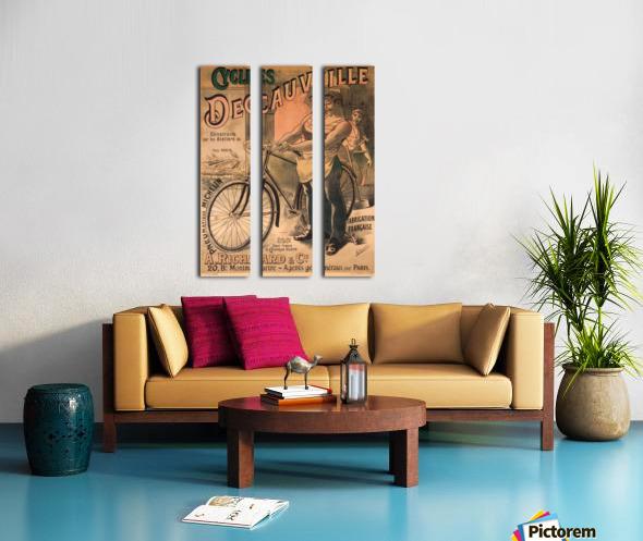Cycles DeCauville vintage poster Split Canvas print