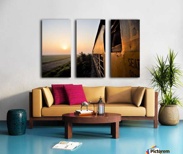 Quetta - Karachi train Split Canvas print