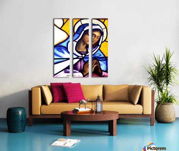 Mary in Glass Split Canvas print