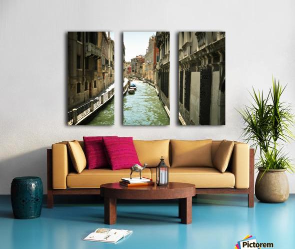 Venice canal Split Canvas print