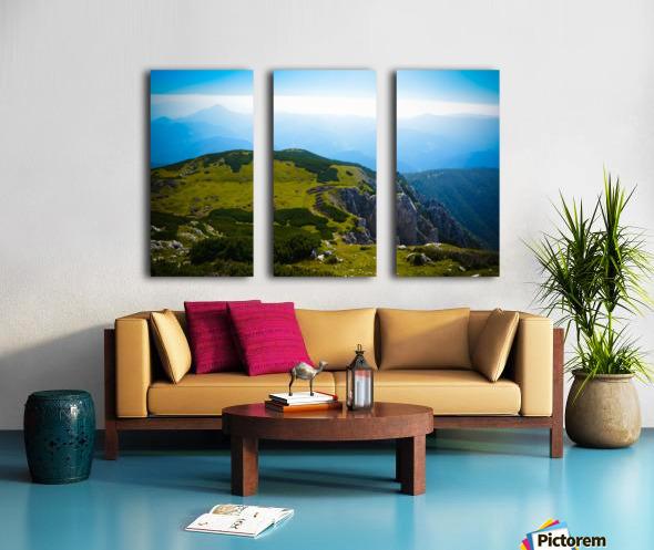 Alpine views Split Canvas print