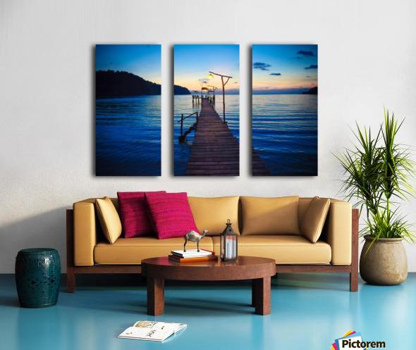 Ko Kut pier Split Canvas print
