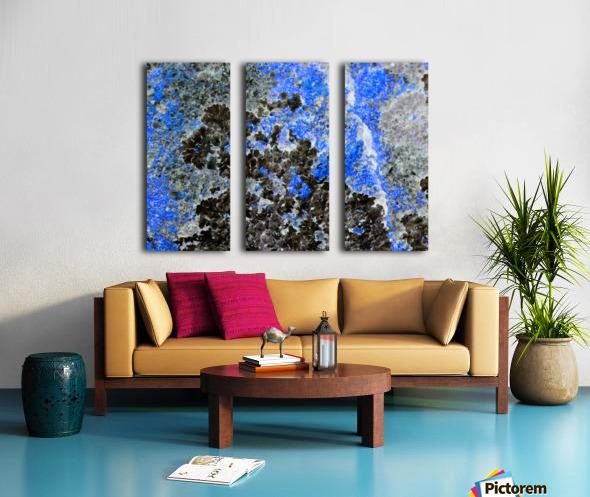 Blue Rock Split Canvas print