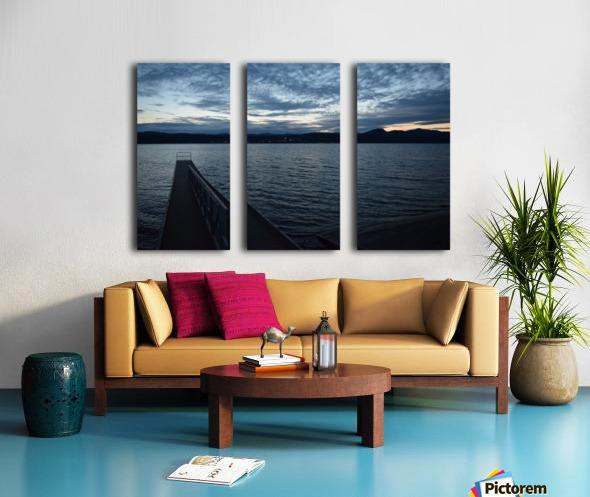 Dusky Dock on Champlain  Split Canvas print