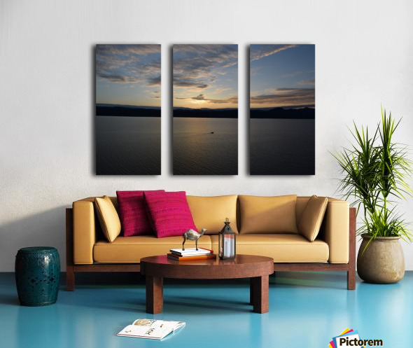 Sunset Boating on Champlain II Split Canvas print