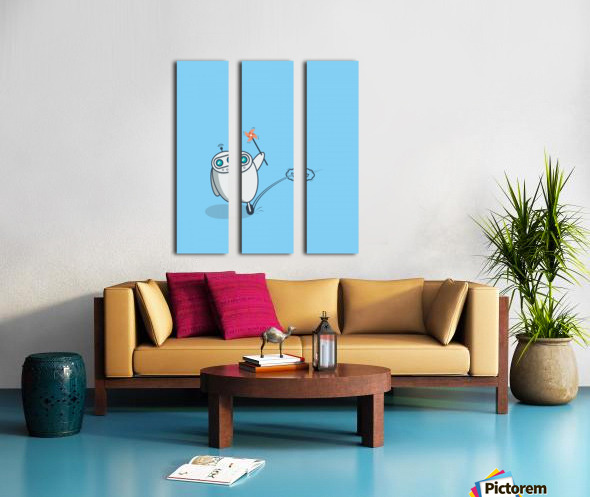 PLayful Robot Split Canvas print