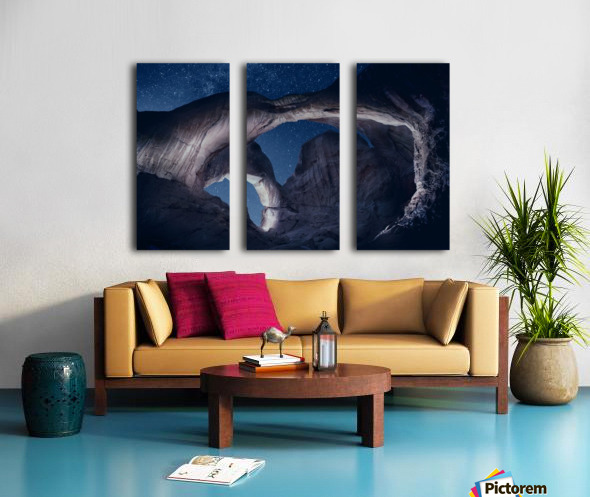 Arches National Park night 1 Split Canvas print