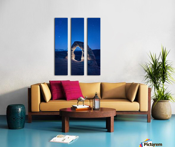 Delicate Arch Night Split Canvas print