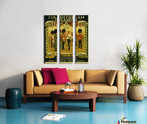 Coldstream Guards Split Canvas print