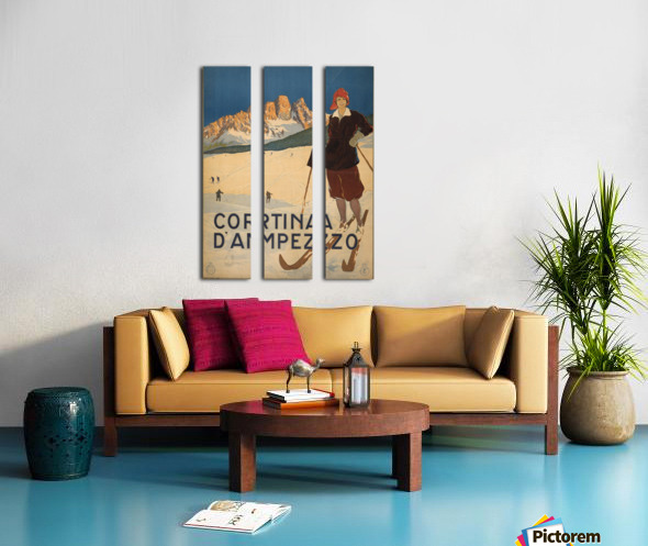 Cortina d Amprezzo Split Canvas print
