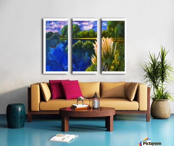 Cattails Split Canvas print