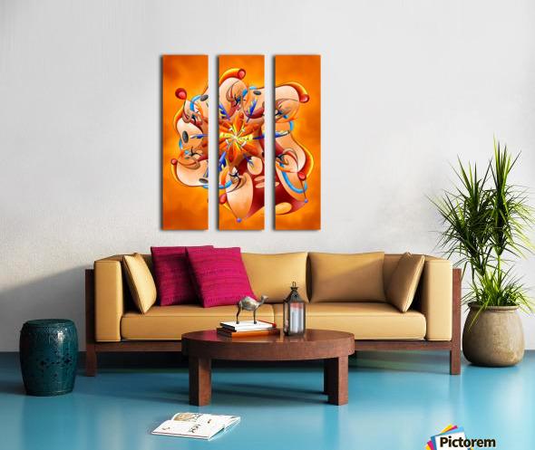 Kaloderoni V2 - dream machine Split Canvas print