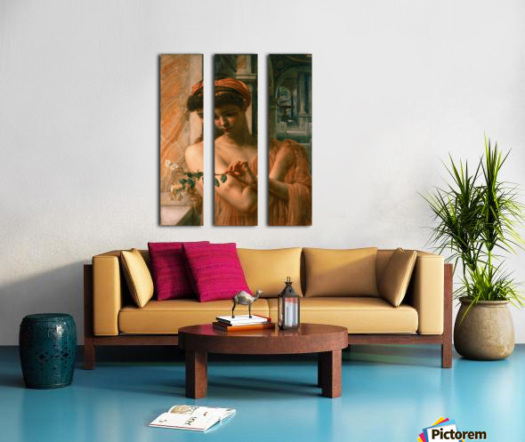 Psyche in the temple of love Split Canvas print