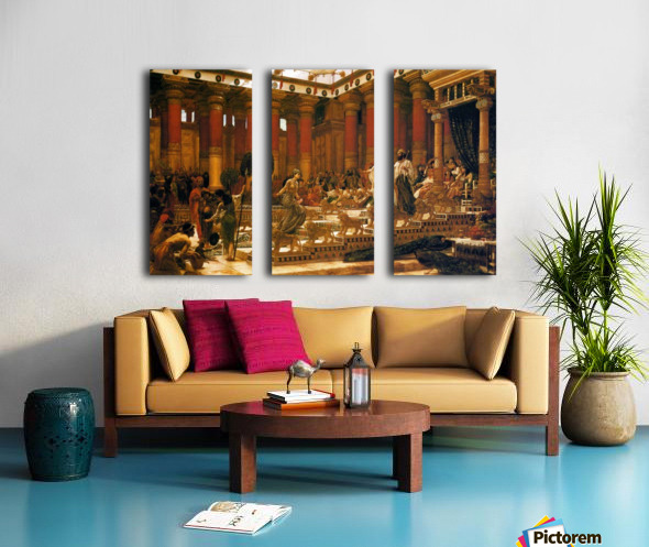 The Visit of the Queen of Sheba to King Solomon Split Canvas print