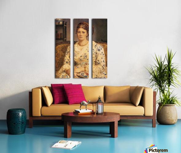 Portrait of Mrs J P Heselitine Split Canvas print