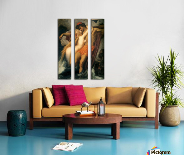 The fisherman and the syren Split Canvas print
