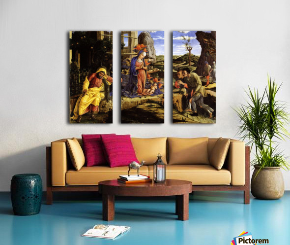 Adoration of the Shepherds Split Canvas print