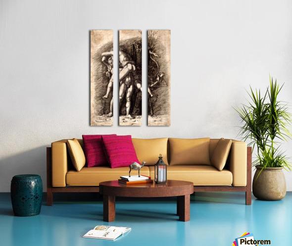 Hercules and Antaeus Split Canvas print