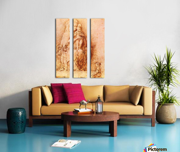 Madonna and Child Split Canvas print