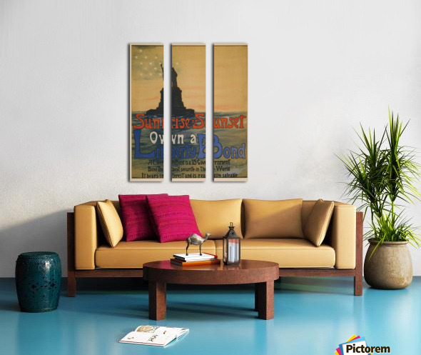 Own a liberty bond Split Canvas print