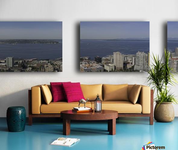 Westward Seattle Panoramic Split Canvas print
