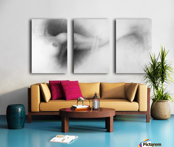 Nude Drawing Split Canvas print