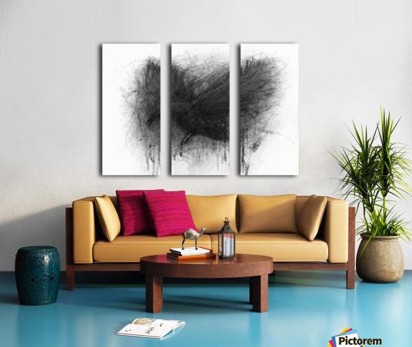 The Raven Split Canvas print