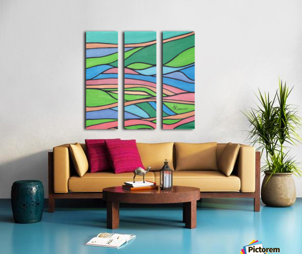 Chromaticity Split Canvas print