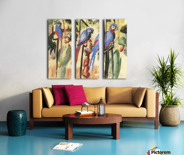 With the Parrots I by August Macke Split Canvas print