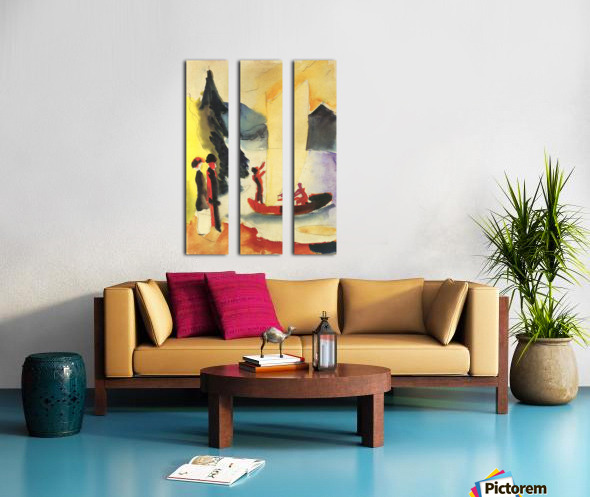 Yellow Sail by August Macke Split Canvas print